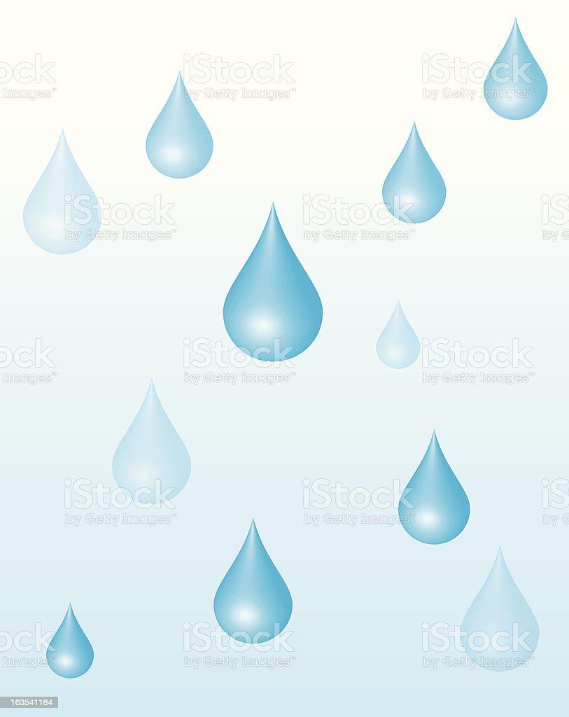 Waterdrop-Vector royalty-free stock vector art