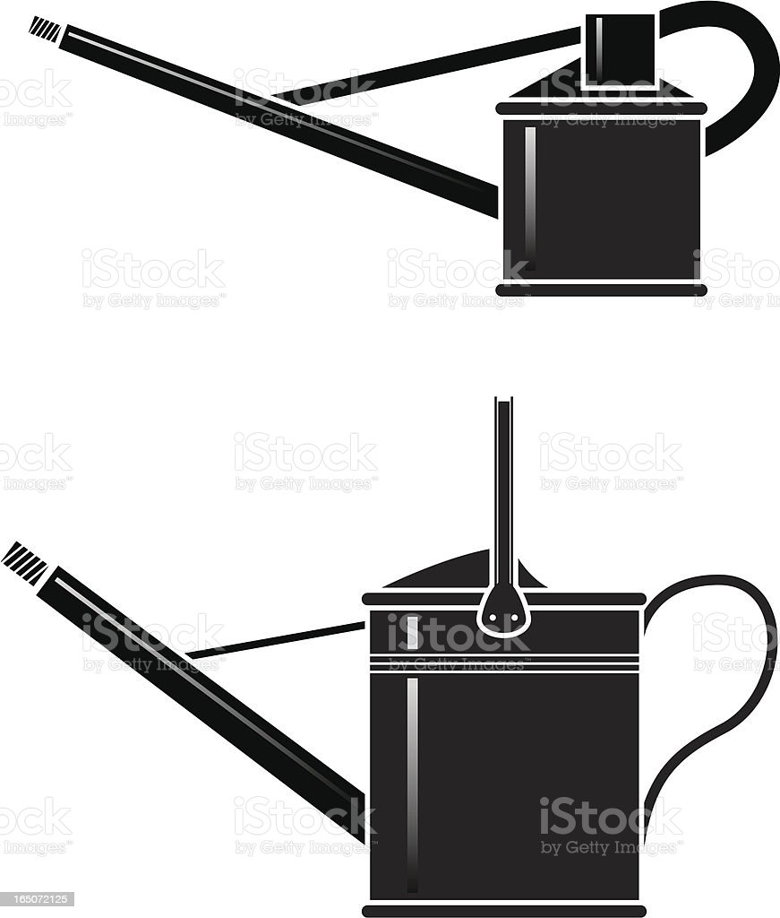 Watering cans royalty-free stock vector art
