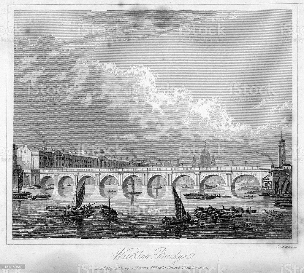 Waterloo Bridge vector art illustration