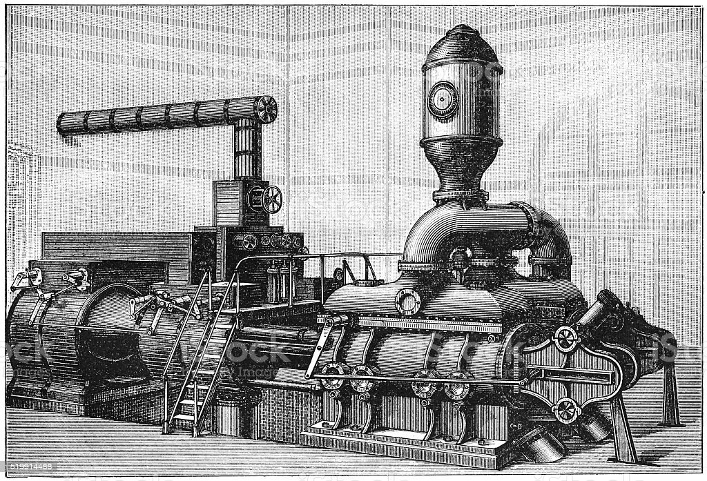 Waterworks' Pump vector art illustration