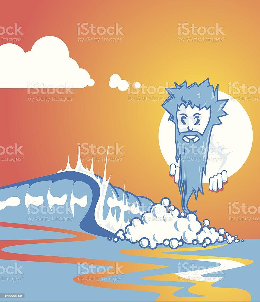wave master vector art illustration