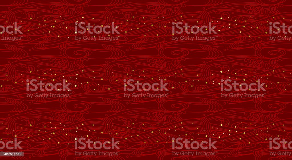 Wave wallpaper. Seamless pattern. vector art illustration