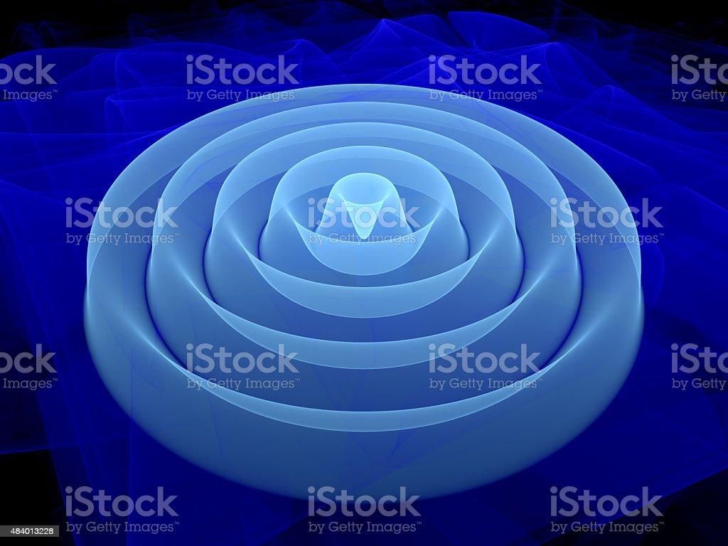 3D waveform fractal vector art illustration