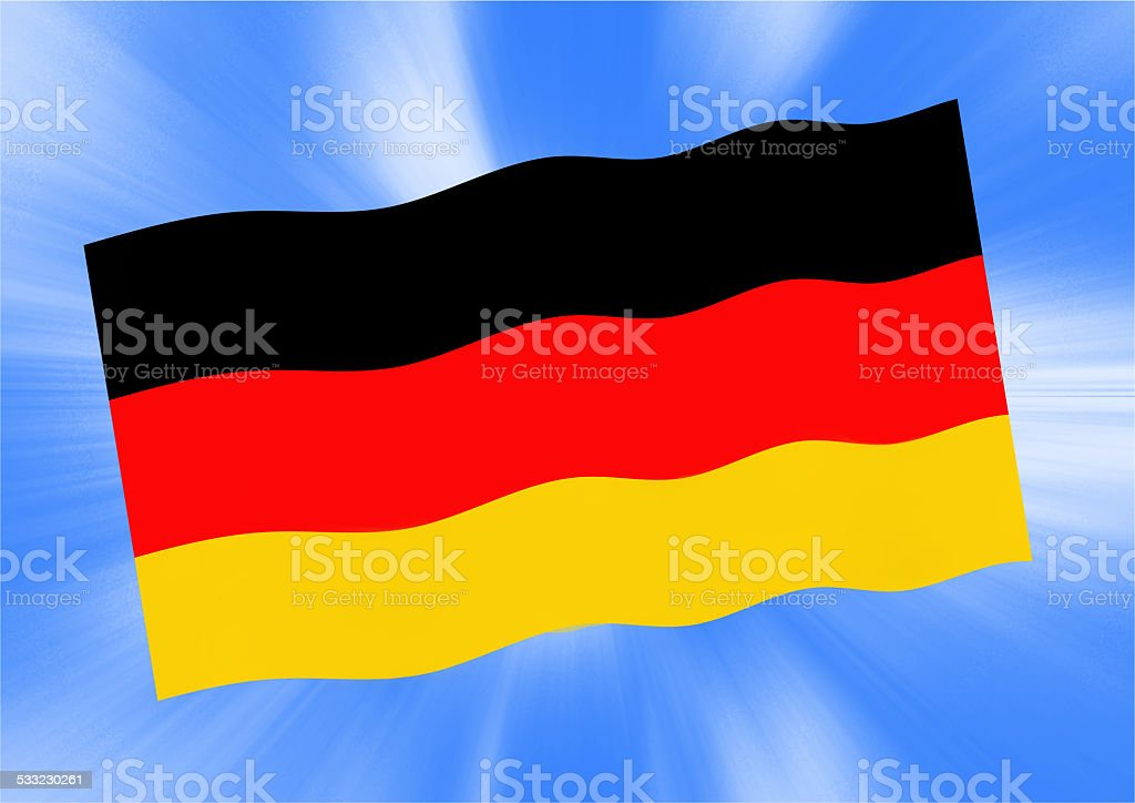 waving Germany flag stock photo