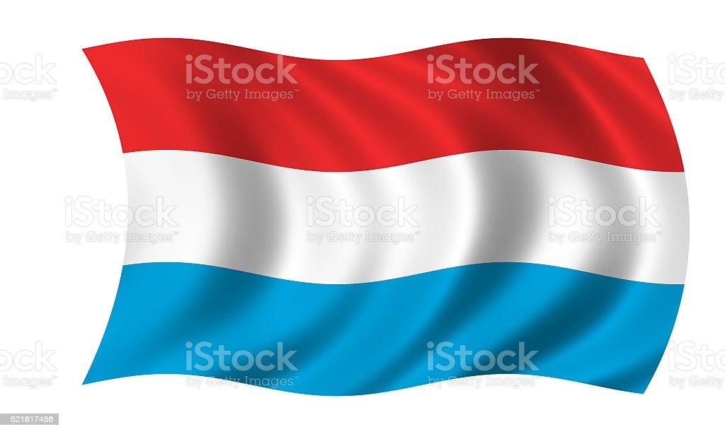 waving luxembourgian flag vector art illustration