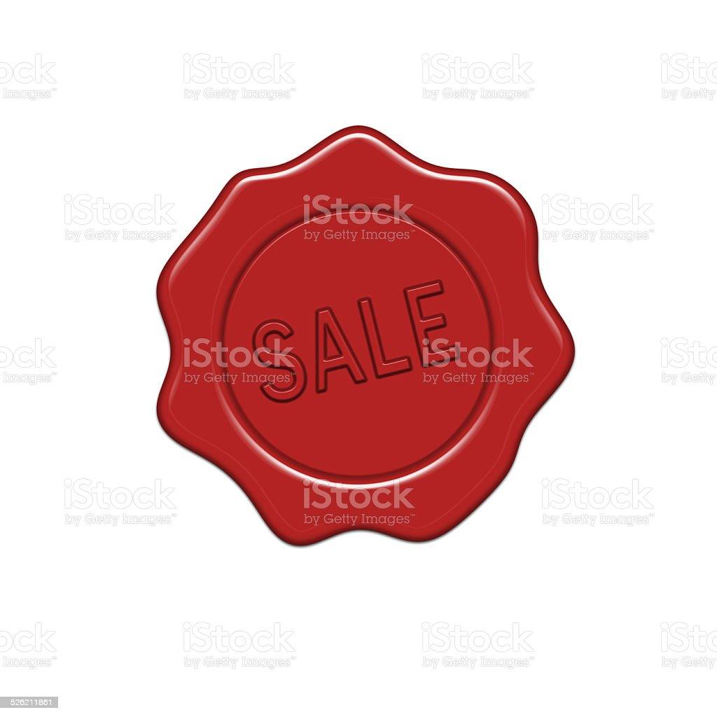 SALE wax seal. vector art illustration
