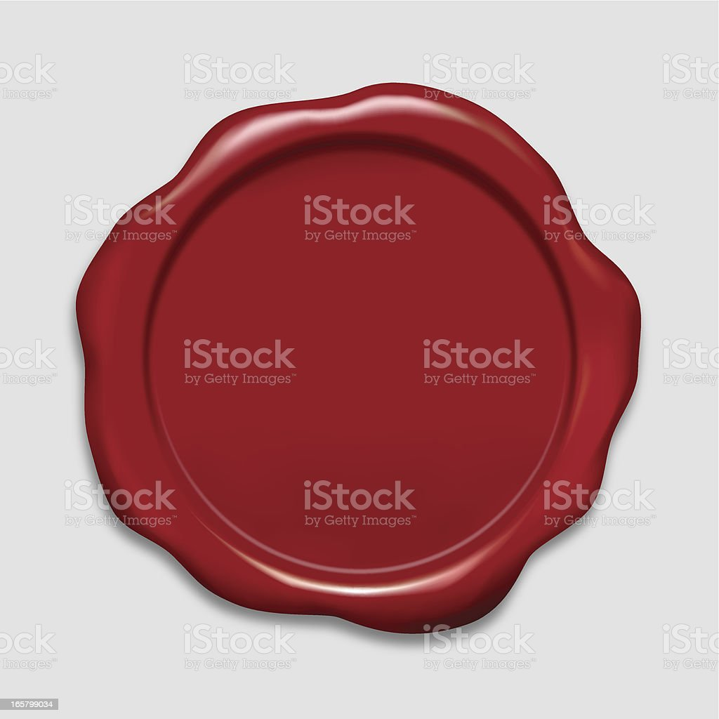 Wax Stamp royalty-free stock vector art