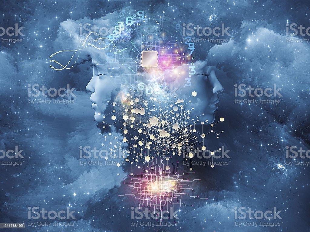Way of the Mind vector art illustration