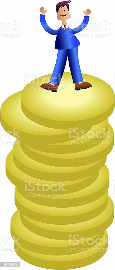 Wealthy Man royalty-free stock vector art