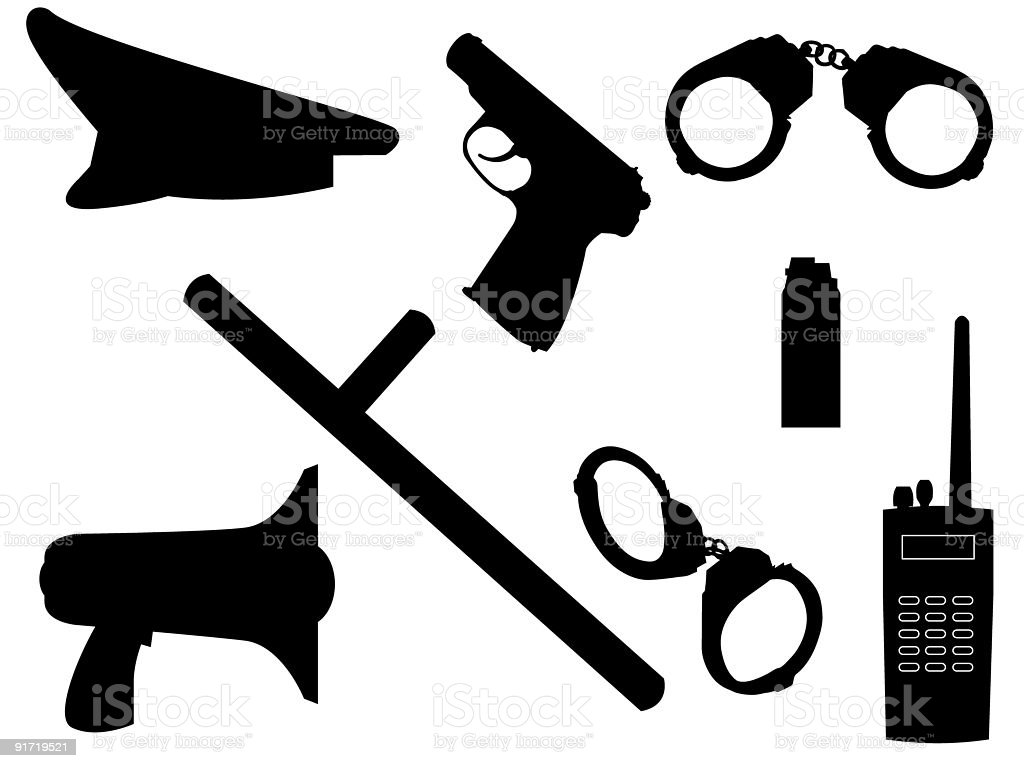 weapon and equipment royalty-free stock vector art