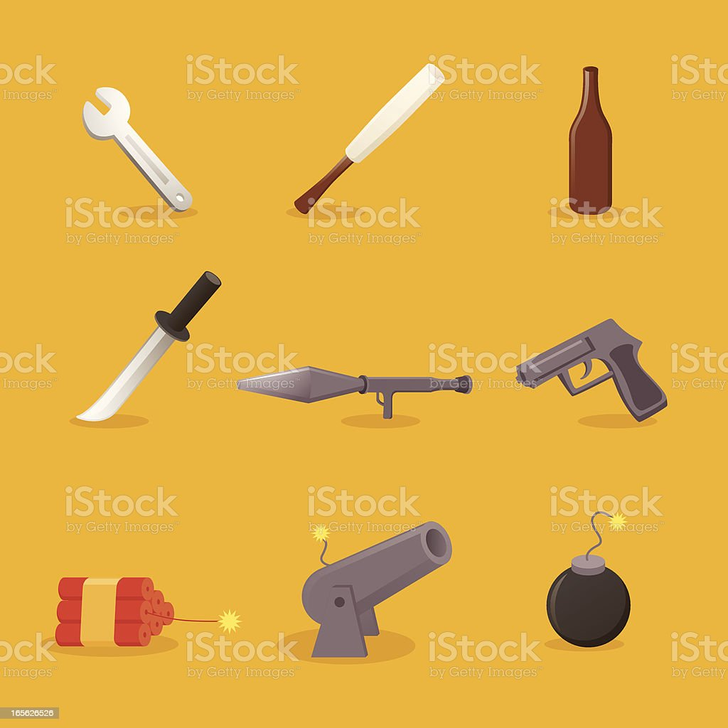 weapons icons royalty-free stock vector art