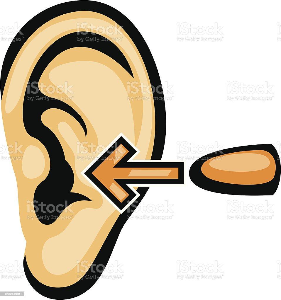 wear ear plugs vector art illustration