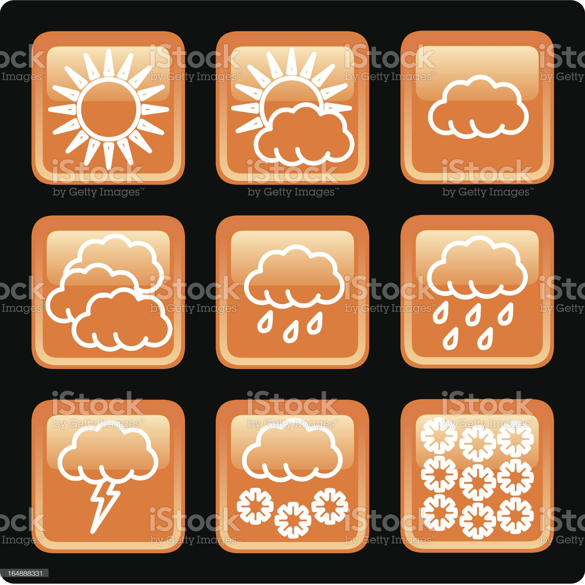 Weather EPS Vector icons royalty-free stock vector art