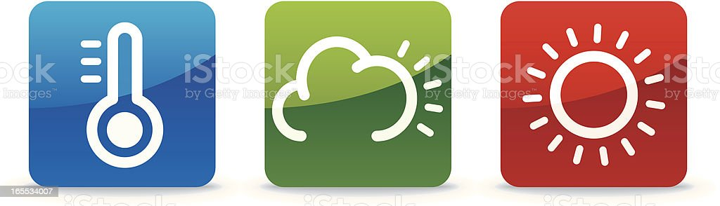 Weather Family - Trilogy Collection vector art illustration