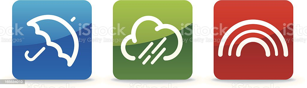 Weather Family   Trilogy Collection vector art illustration