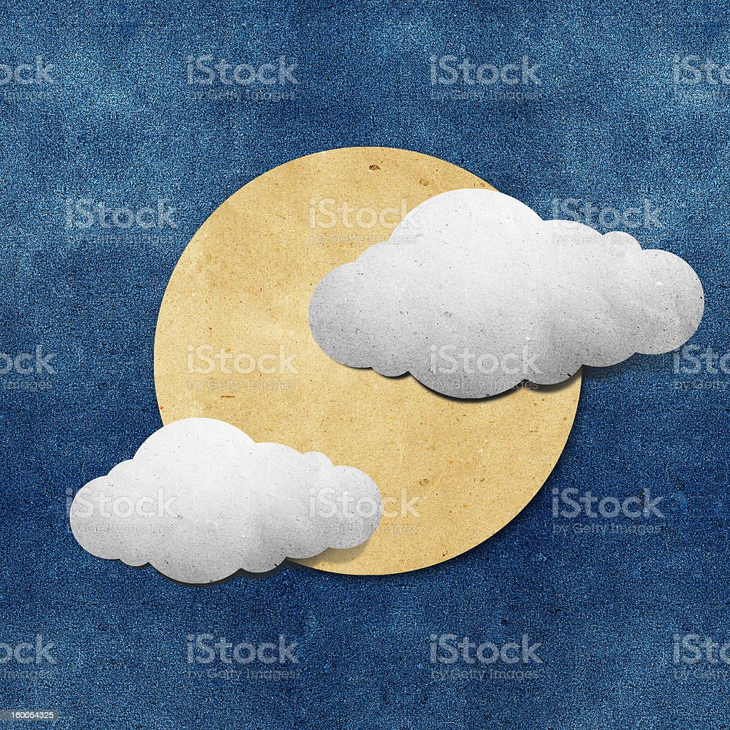 Weather grunge recycled papercraft stick royalty-free stock vector art