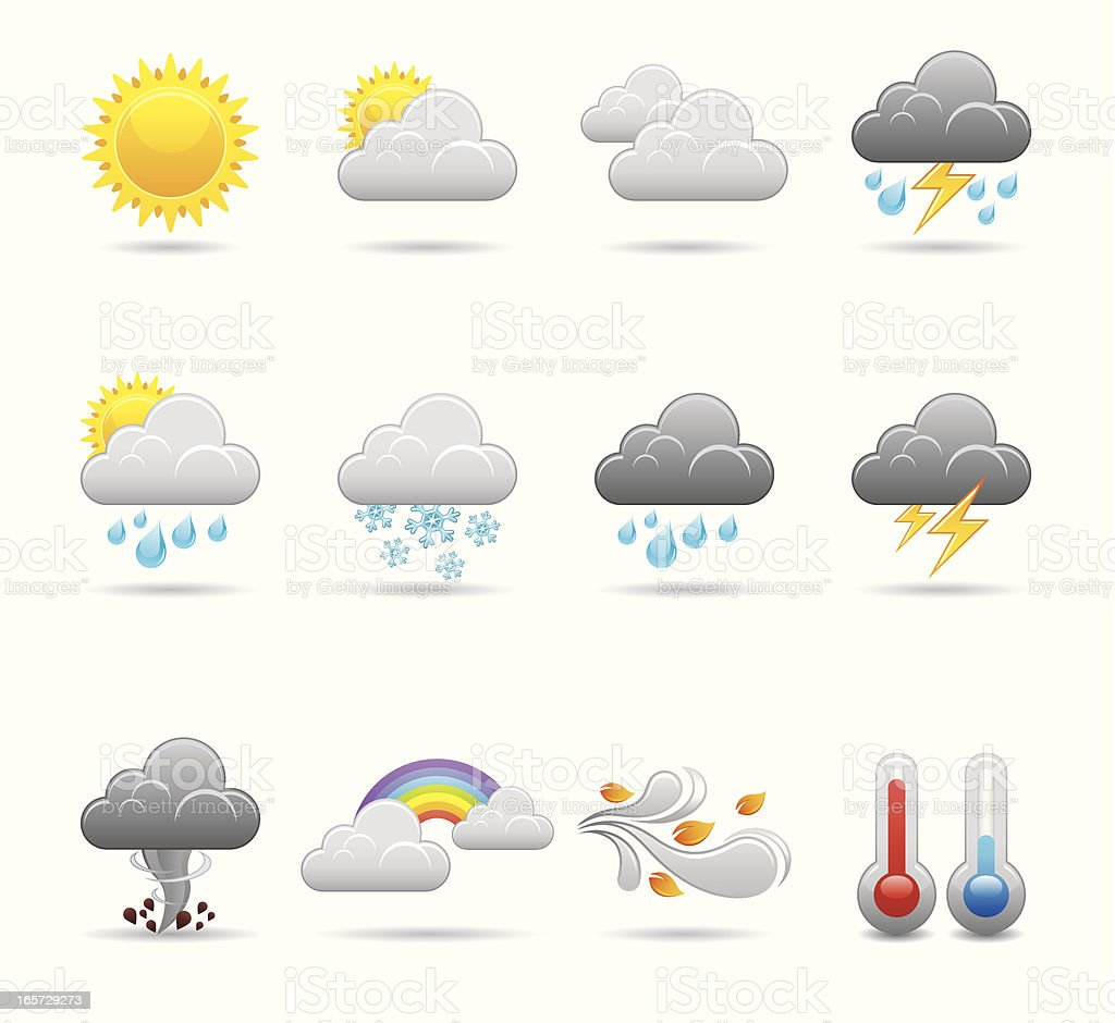 Weather Icon Set | Elegant Series vector art illustration