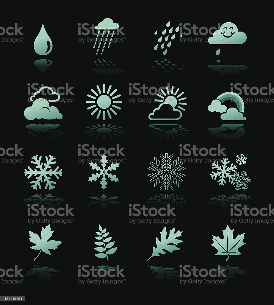 Weather Icons Hi Contrast royalty-free stock vector art