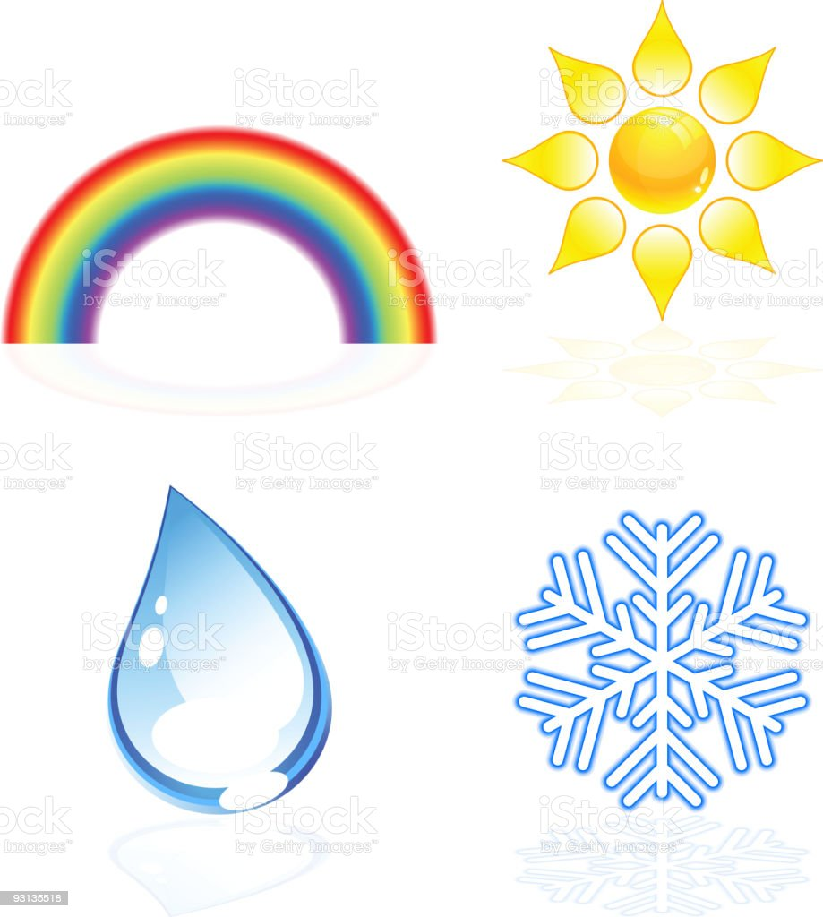 Weather icons. royalty-free stock vector art