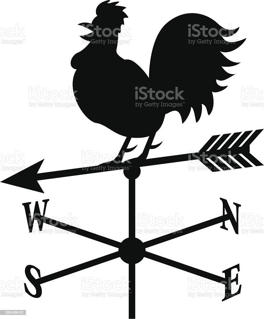 weather rooster vector art illustration