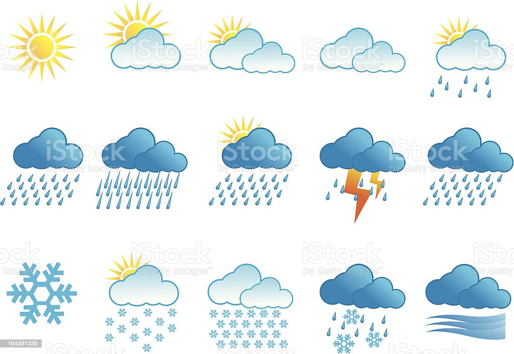 Weather vector icons series royalty-free stock vector art
