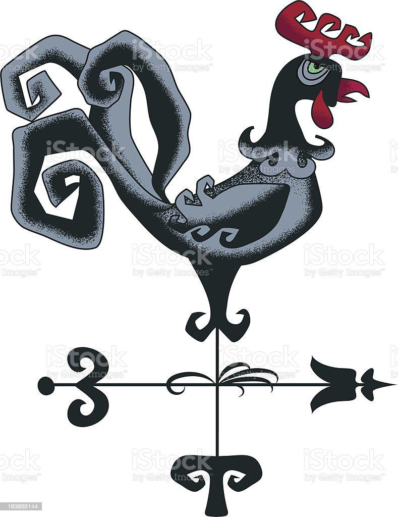 Weathercock royalty-free stock vector art