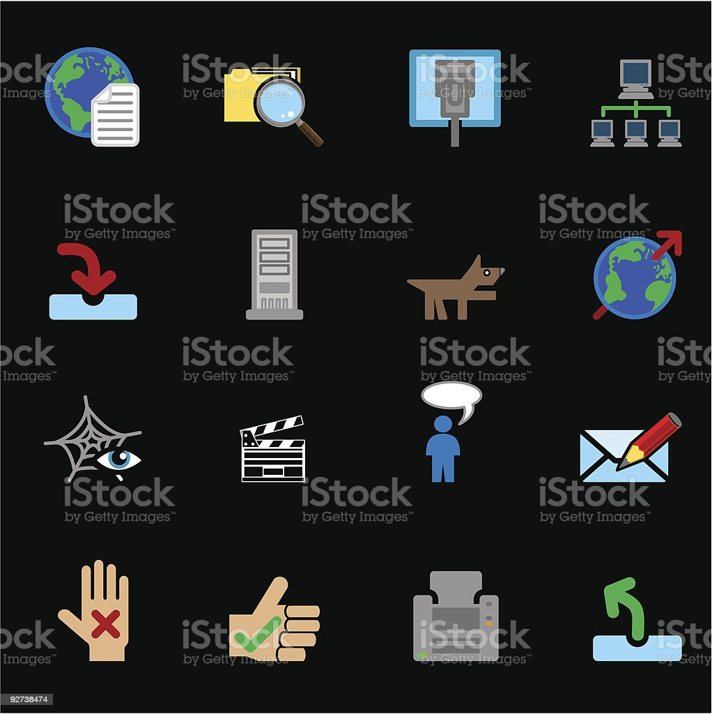 Web and Computing Icons Series Set royalty-free stock vector art