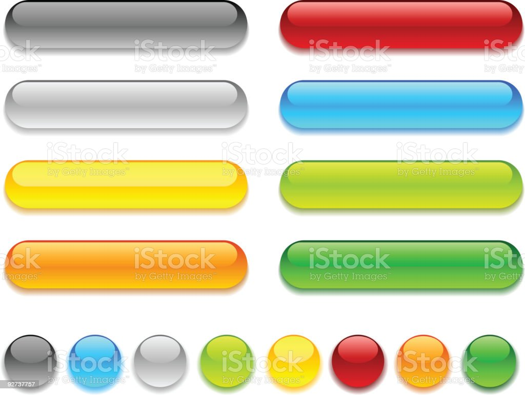 Web buttons. royalty-free stock vector art