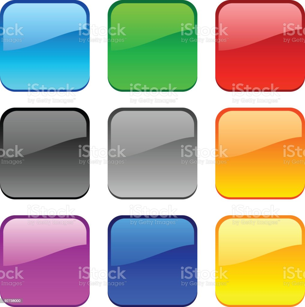 Web buttons. vector art illustration
