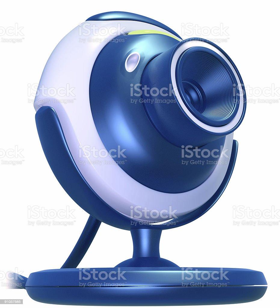 Web Cam Blue royalty-free stock vector art