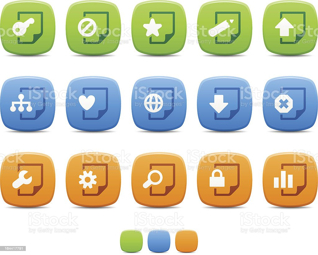 Web Document icons royalty-free stock vector art