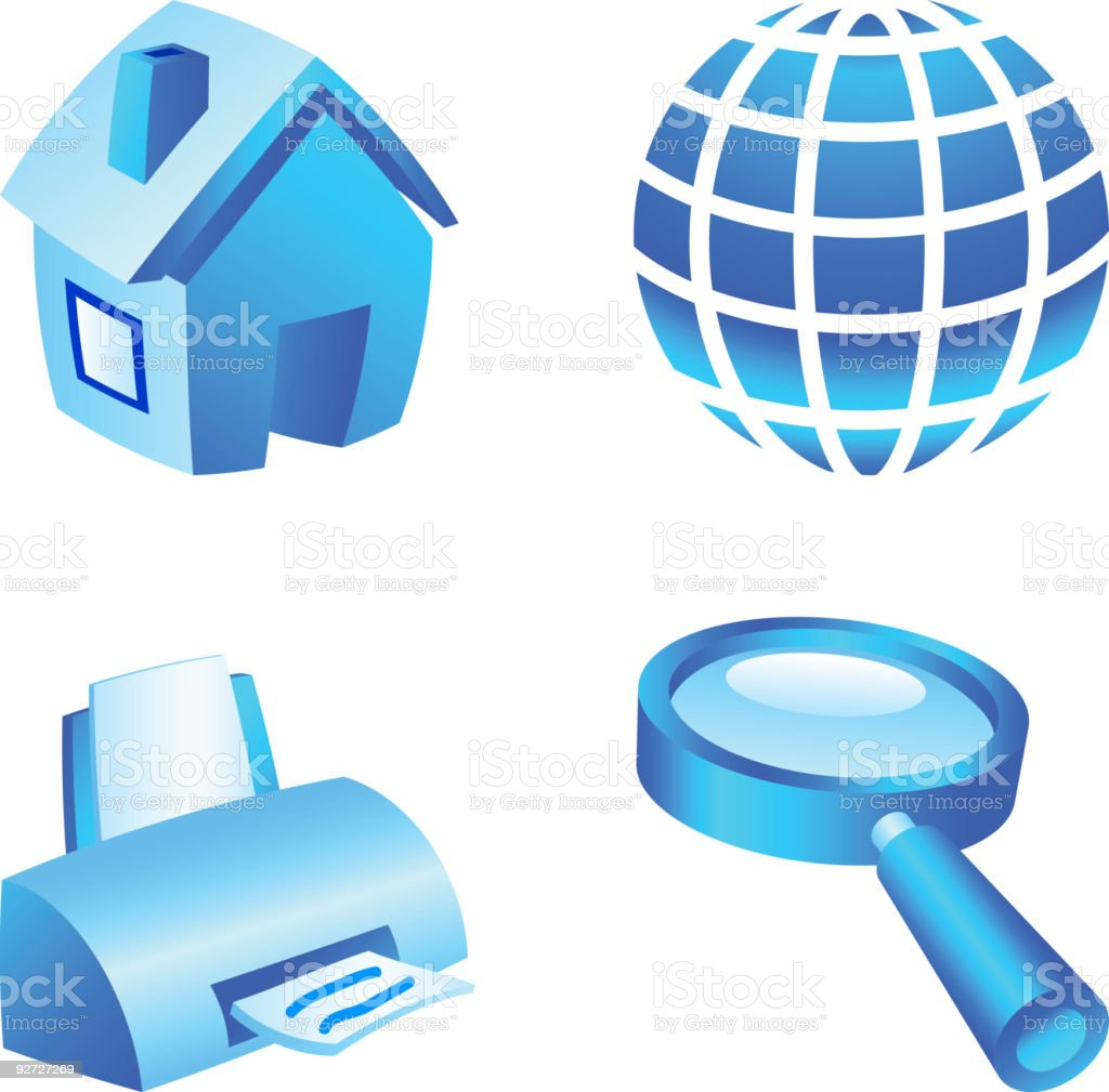 Web icon set. royalty-free stock vector art