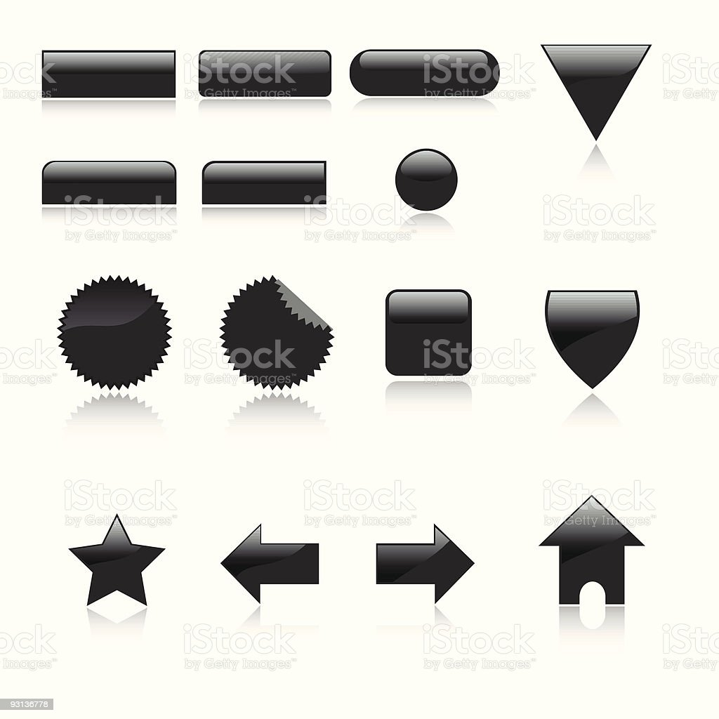 Web icon set royalty-free stock vector art