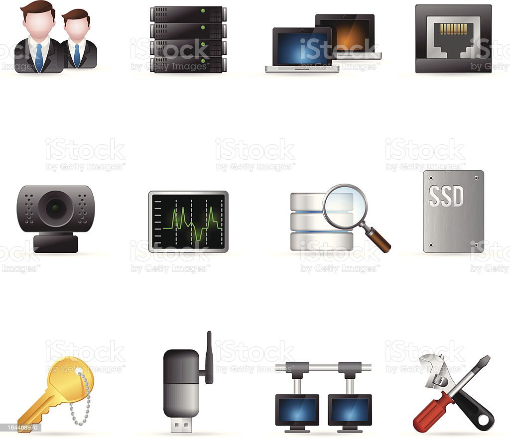 Web Icons - More Computer Network royalty-free stock vector art