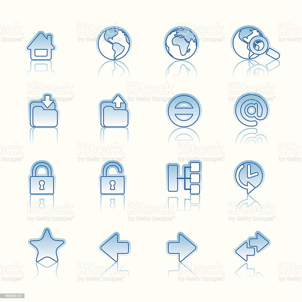 Web icons on white royalty-free stock vector art