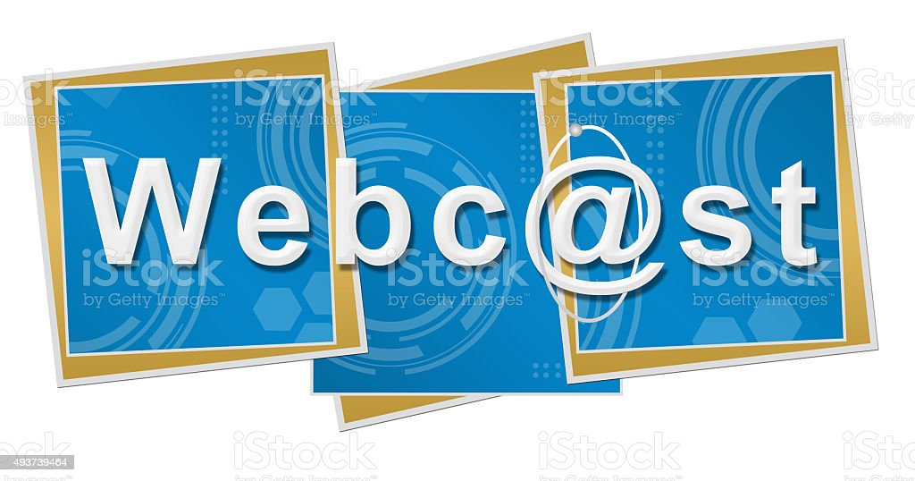 Webcast Technical Squares vector art illustration