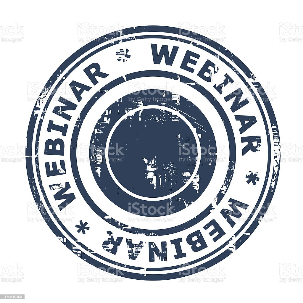Webinar concept stamp royalty-free stock vector art