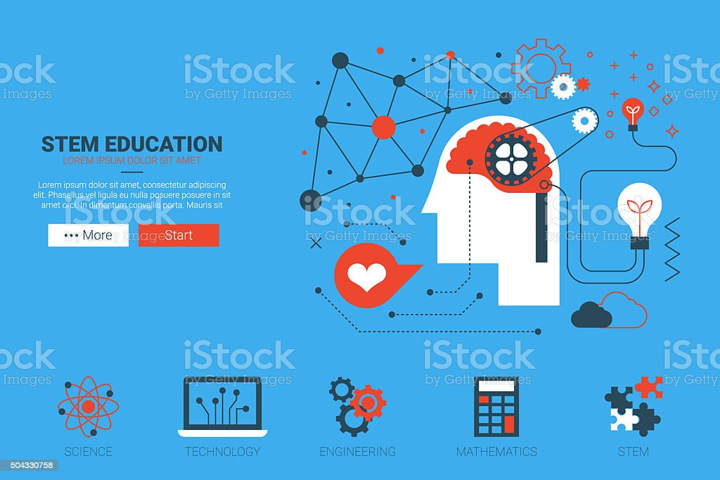 STEM website concept vector art illustration