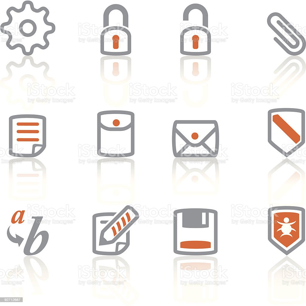 Website  icons - iReflect set  3 royalty-free stock vector art