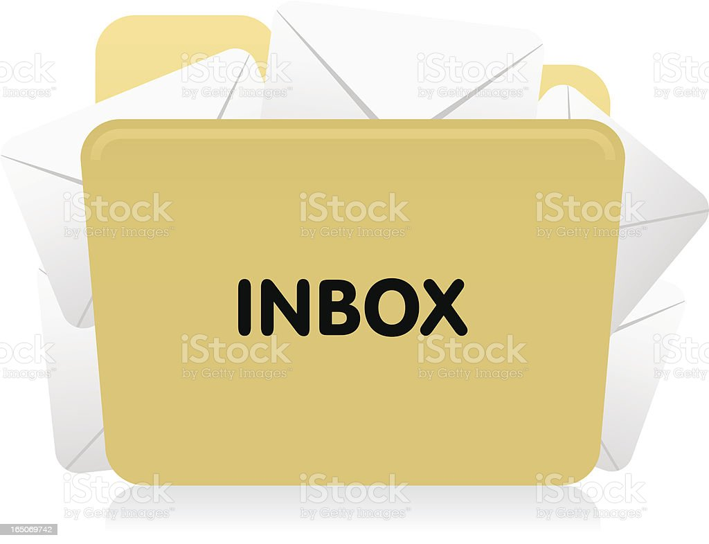 Website & Internet Icon : Email Inbox royalty-free stock vector art
