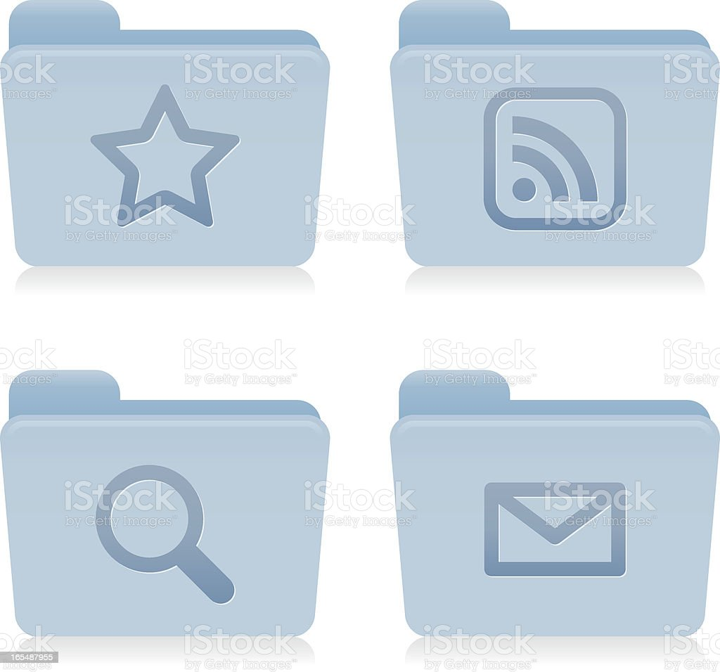 Website & Internet Icons : Blue Folders vector art illustration