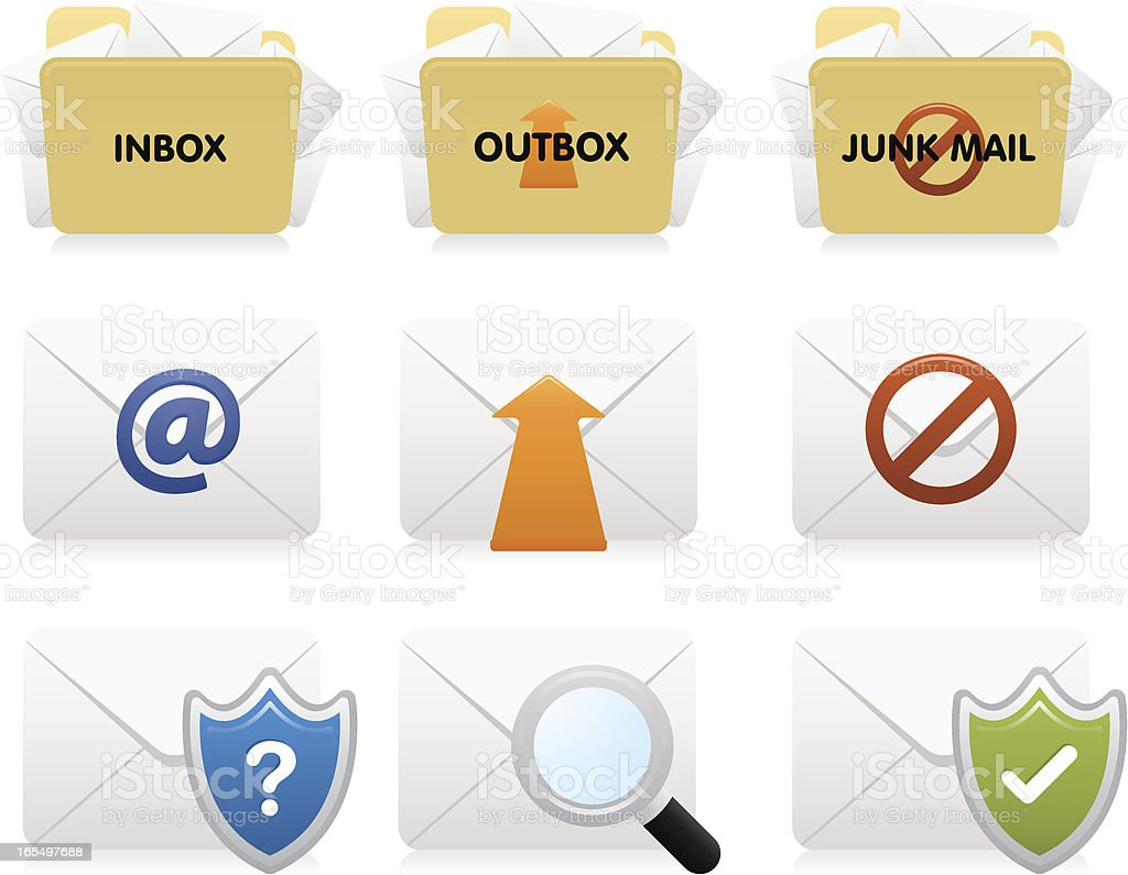 Website & Internet Icons :  Email royalty-free stock vector art