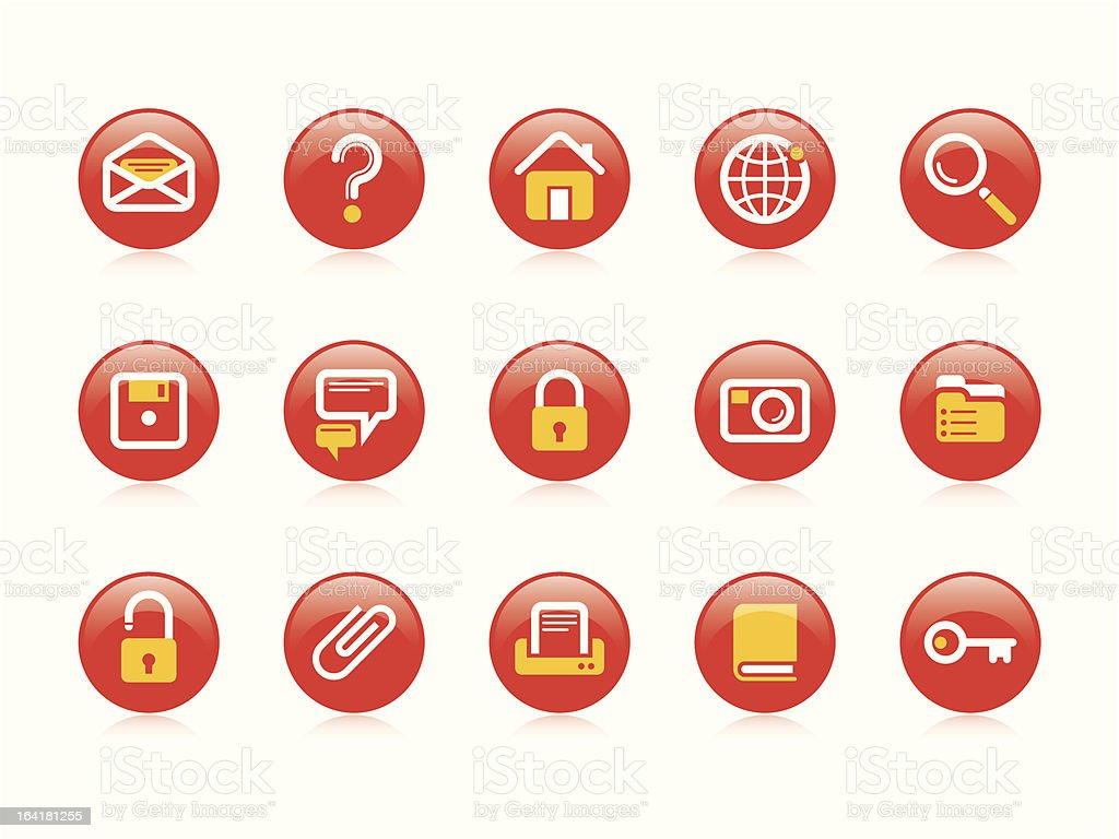 Website & Internet icons royalty-free stock vector art