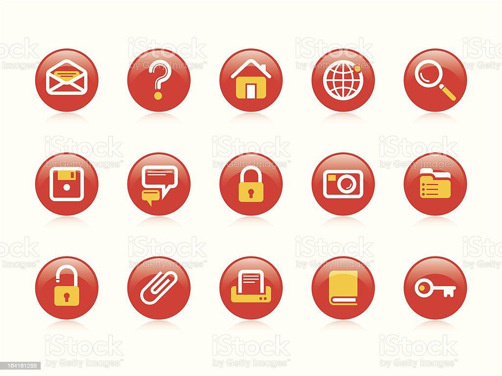 Website & Internet icons vector art illustration