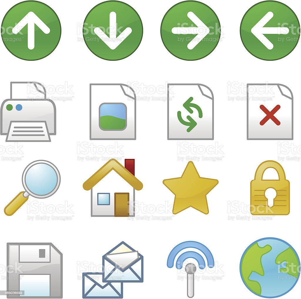 Website & Internet Icons : XP vector art illustration