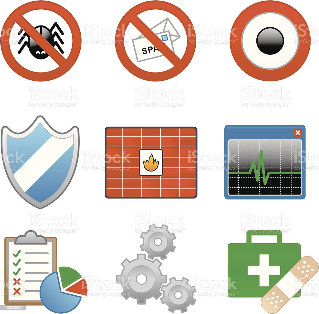 Website & Internet Icons : XP Security royalty-free stock vector art