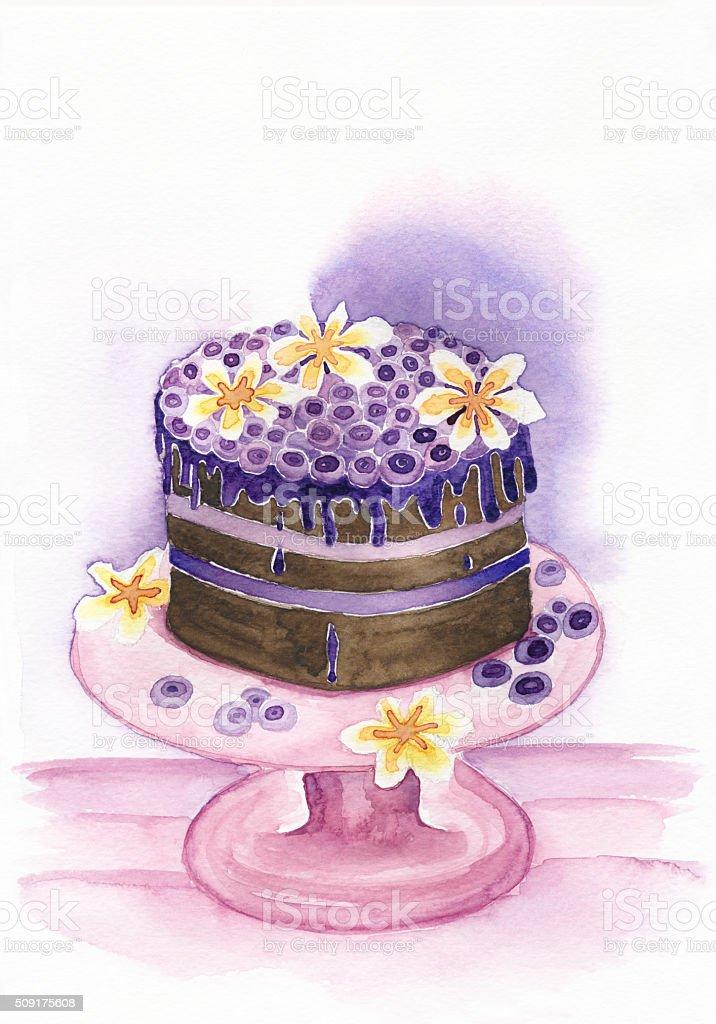 Wedding Cake Illustration, Background vector art illustration
