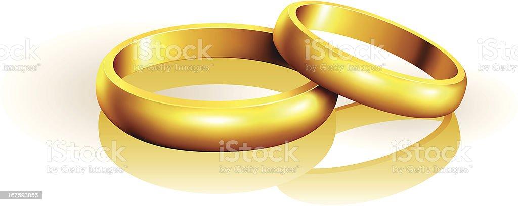 Wedding Rings vector art illustration