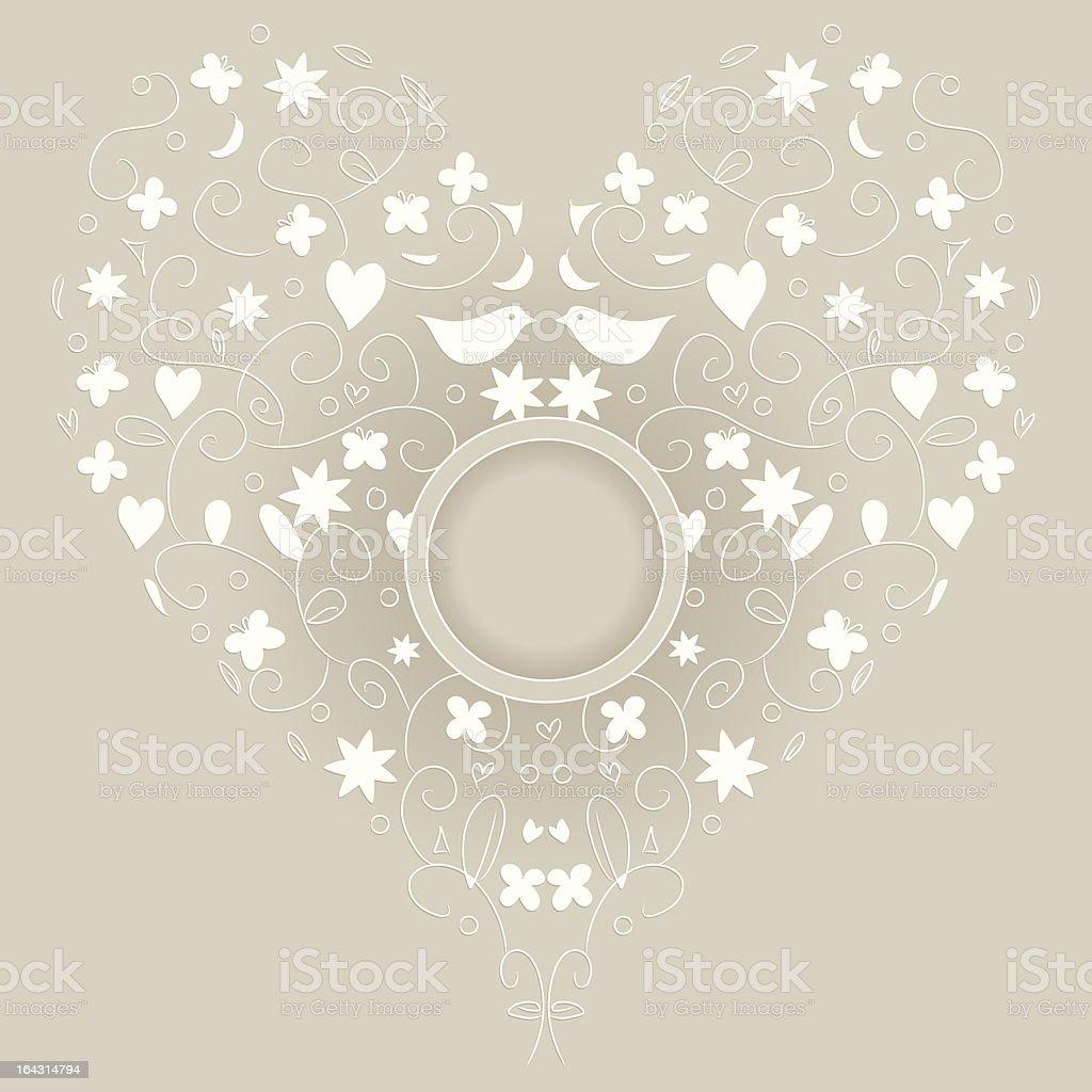 WeddingLoveCard royalty-free stock vector art