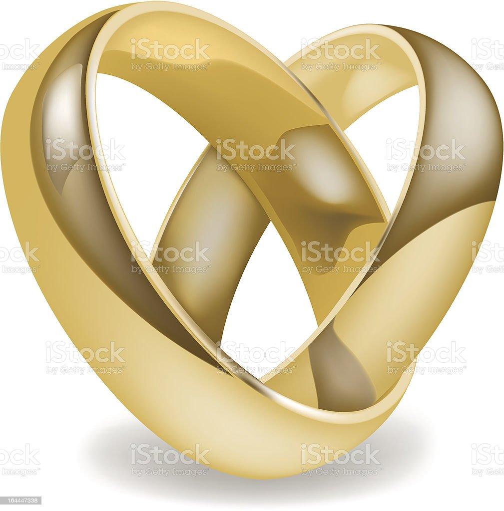 Weddings rings. royalty-free stock vector art